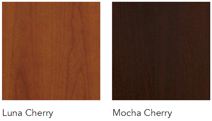 cherry veneer colors for Insignia office furniture series