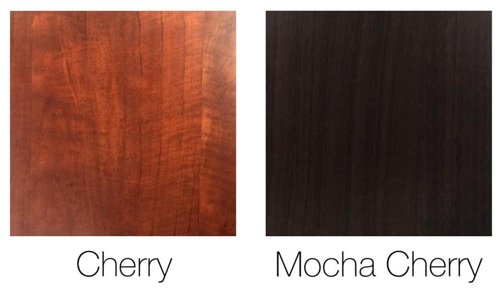 Cherry and Mocha cherry office furniture laminate finish