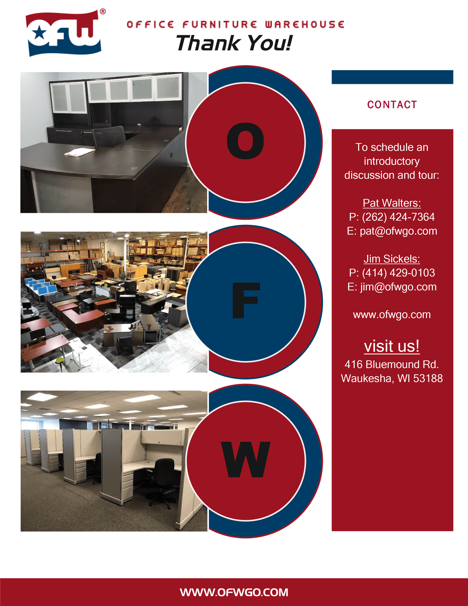 Contact Office Furniture Warehouse to learn more about franchise opportunities