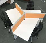 Modern Open Concept Workstation that seats 3