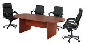 8 foot laminate racetrack conference table with chairs for sale Milwaukee