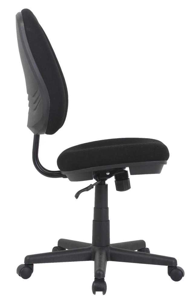 Adjustable height office task chair no arms