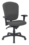 Grey fabric adjustable office chair