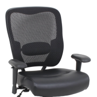 modern big and tall black office chair