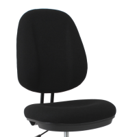 Black fabric drafting office task chair no arms