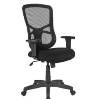Discount black mesh office chair with arms and wheels for sale with free shipping