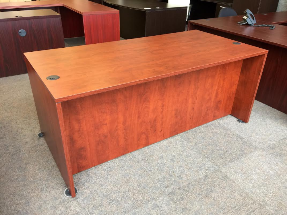 Straight front office desk for sale
