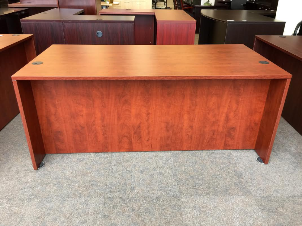 Cherry finish affordable office desk Milwaukee