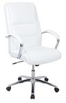 white leather office chair for sale online