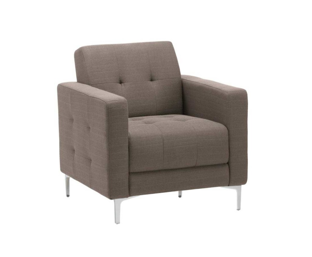 Fabric lounge chair with arms