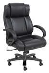 Heavy duty black leather executive chair for sale online