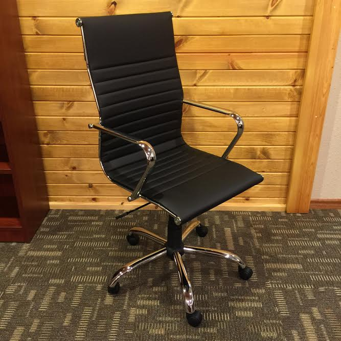 black office chair with wheels for sale