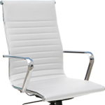 white office chair with back support for sale