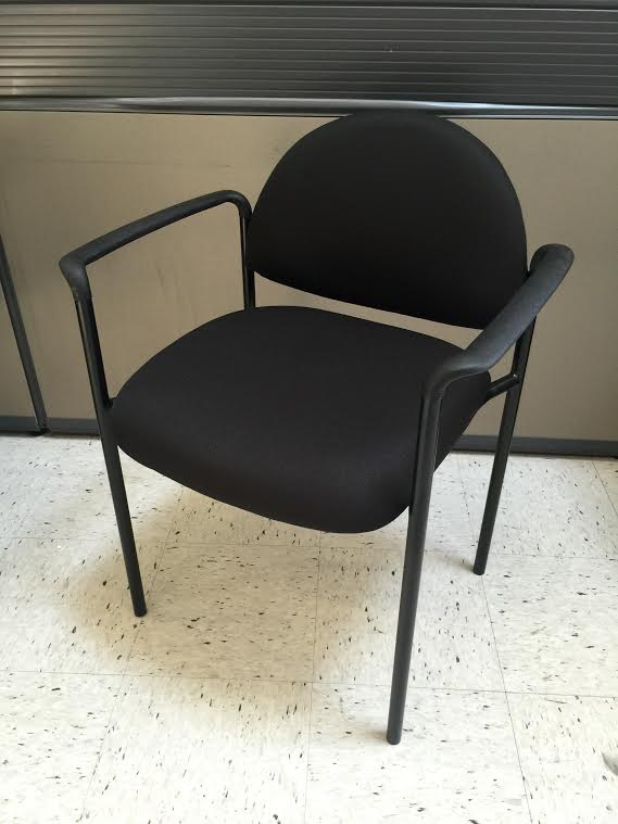 Black Vinyl Client Chair (New)   OFW Office Furniture ... Black Office Chair Back View
