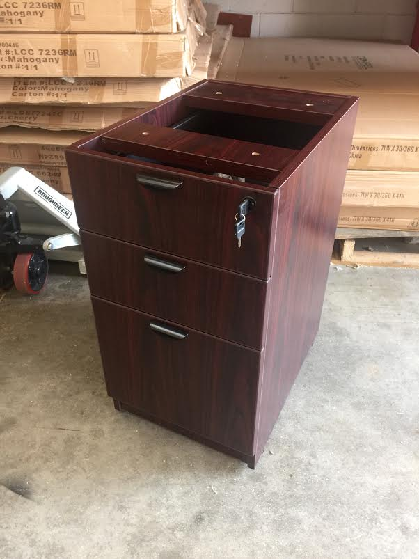 Office Desk With Filing Cabinet For Milwaukee