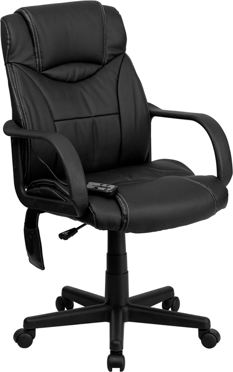Black executive massaging chair for sale online