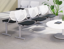 Beam seating for airports and waiting rooms