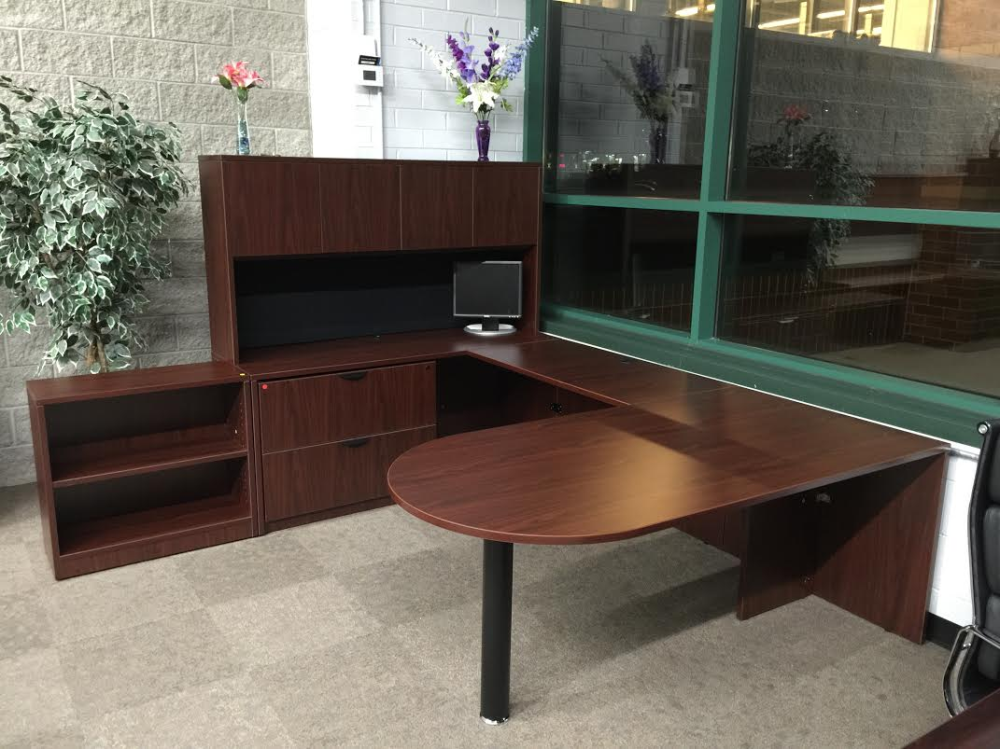 Bullet Top U Shape Office Desk W Hutch Ofw Office Furniture