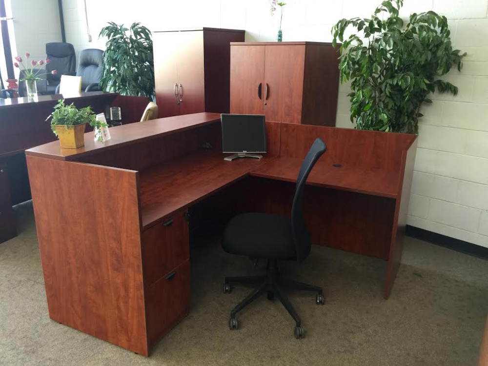 office desk for sale Chicago & EL Laminate Reception L-Shape Desk Set | OFW Office Furniture ...