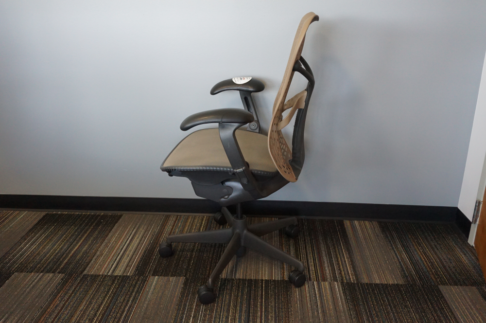 Used Herman Miller Mirra 2 ergonomic office chair for sale- Side View