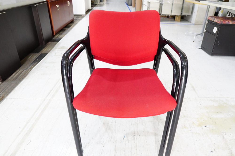 Used red Herman Miller Stacking Chair
