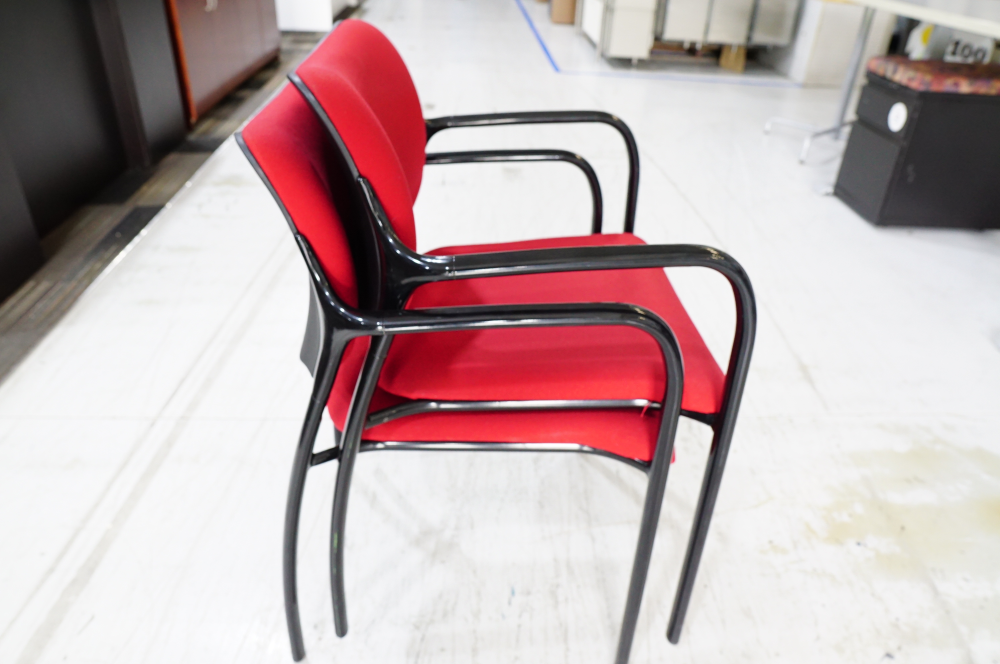 Used Red Herman Miller Aside Chair - Used