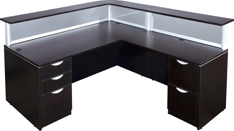 discount new gently used reception desks for sale milwaukee reception desks for salons. Black Bedroom Furniture Sets. Home Design Ideas