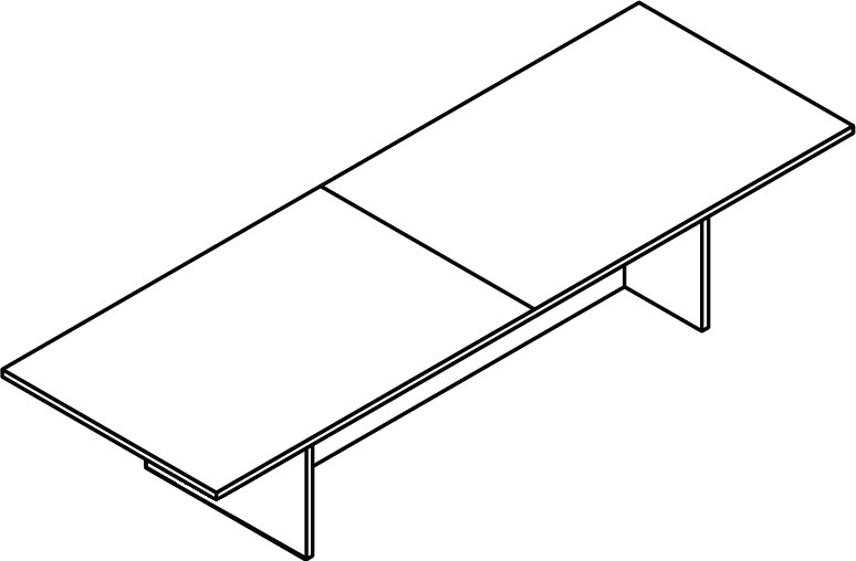 dimensional sketch of 8 foot rectangular conference table