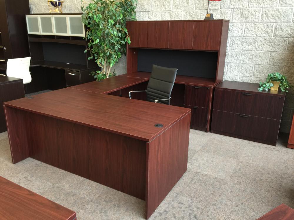 Straight Front Shape Desk Set Hutch Ofw Office