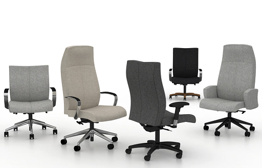 Fabric covered office chairs and executive chairs for sale