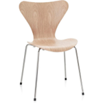 Used Fritz Hansen Series 7 stacking chair in clear lacqured walnut veneer