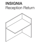 insignia wood reception desk return for sale Milwaukee