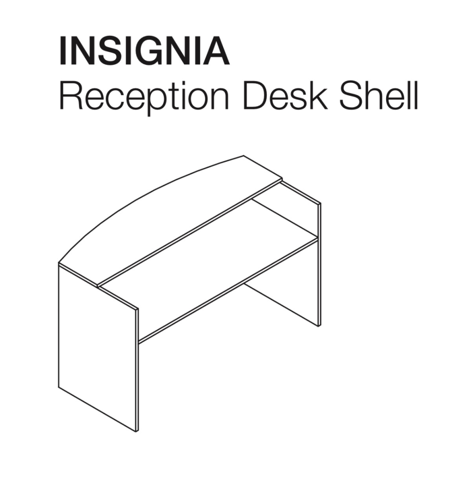 insignia wood reception desk shell  for sale Milwaukee