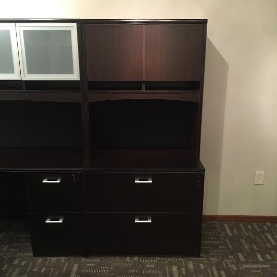 office desk Hutch Book Case over 2 Drawer Lateral File