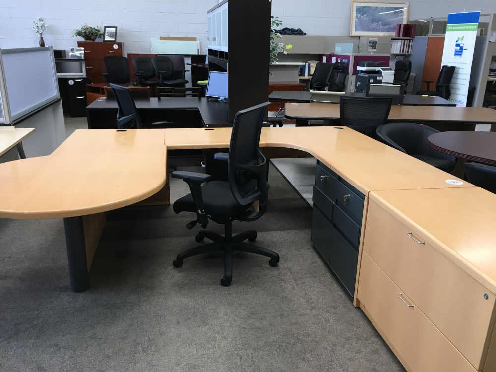 Used Steel Case Executive Desk Set For Sale Low Price Ofw Office Furniture Warehouse Usa