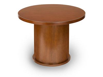 insignia 42 wood veneer round table w drum base new ofw office rh ofwgo com