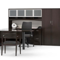 Insignia Veneer Office Desks Cherry Wood Desktop Executive Reception Ofw Office