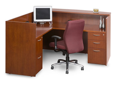 "72"" Insignia Reception Desk (Luna Cherry)"