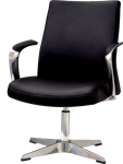 PU office chair with pedestal base and discount pricing