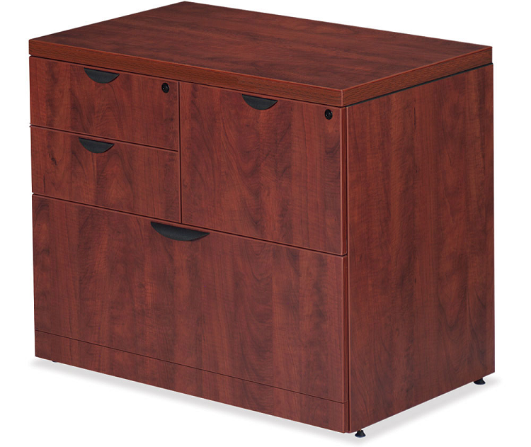 3 drawer laminate lateral file cabinet with locking doors