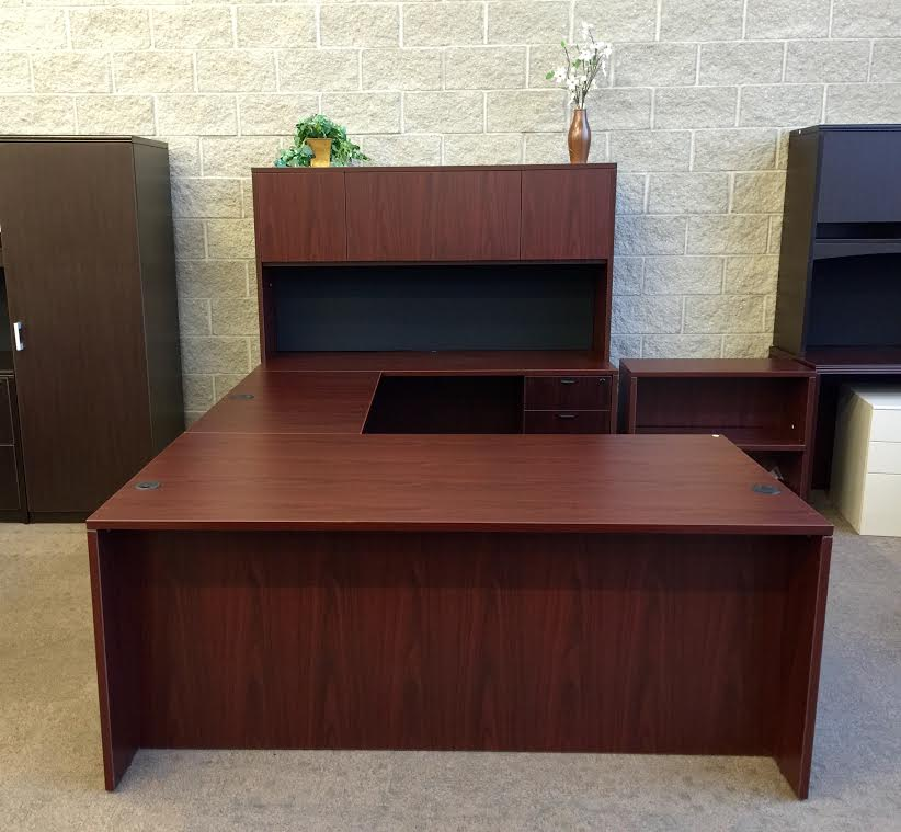 Straight Front U-Shape Desk Set W/Hutch