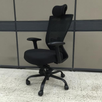 ergonomic black cushioned office chair for sale online