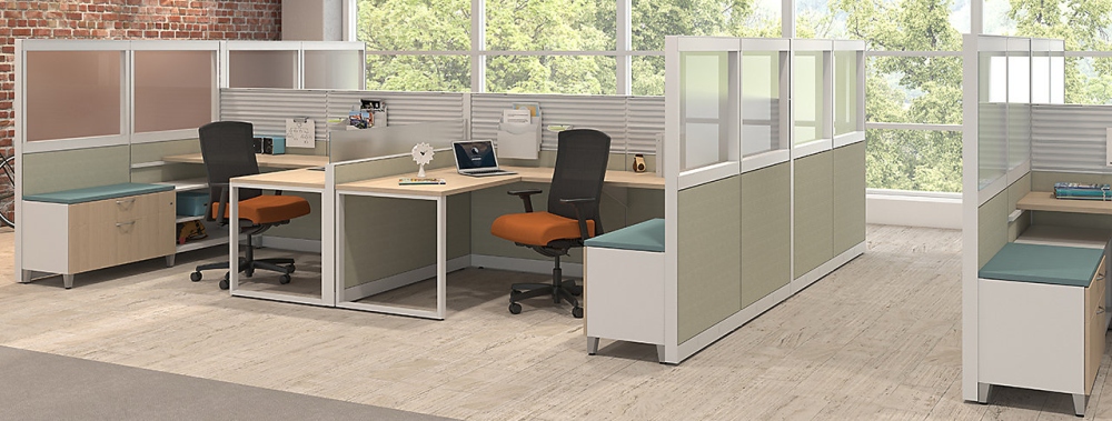 Maxon Emerge cubicle systems create space in Kenosha office