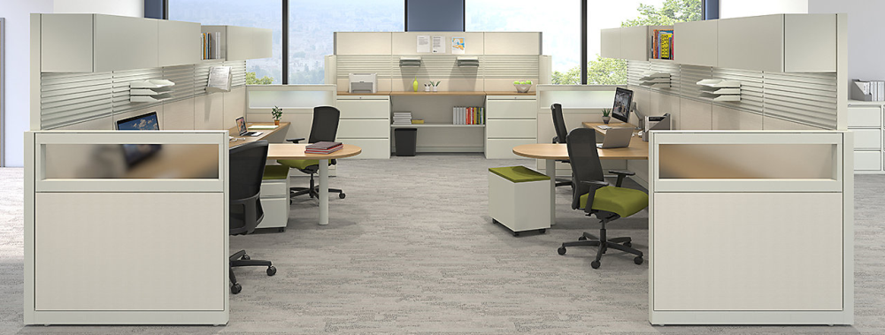 Modern office partitions and dividers from Maxon create privacy in Mequon offices