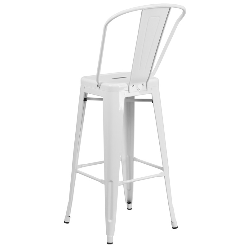 white metal barstool for sale