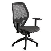 black mesh adjustable task chair for sale
