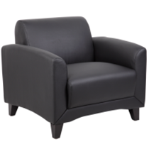Black leather office lounge chair for sale in Milwaukee