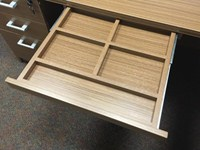 office desk Pencil Drawer in Walnut Finish