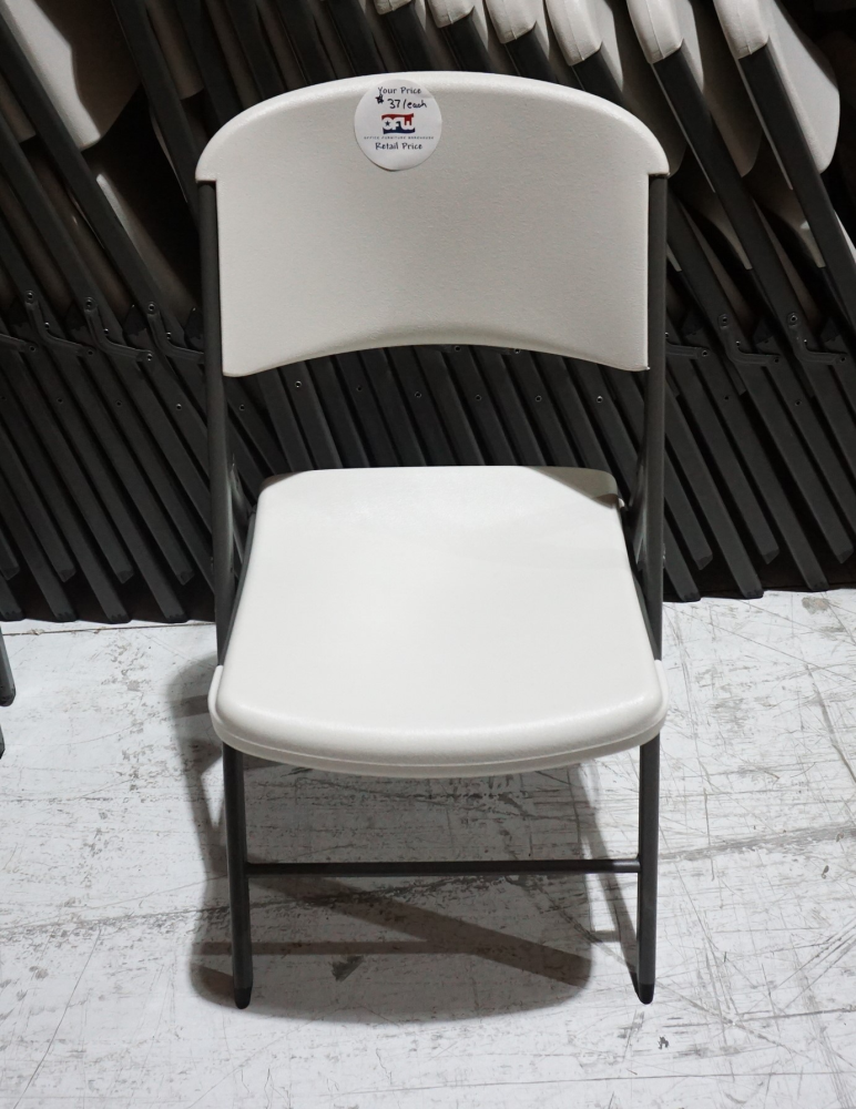 Used White Plastic Folding Chairs Ofw
