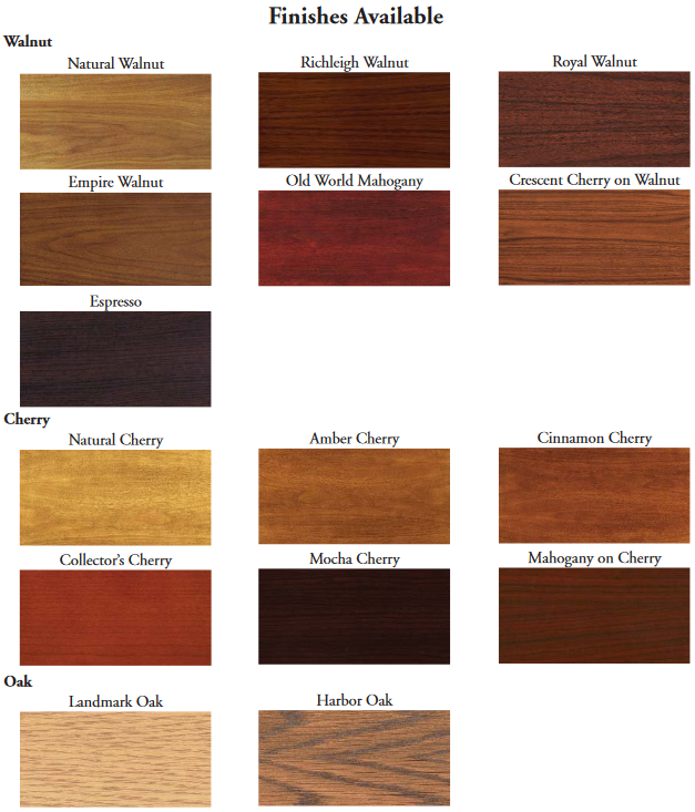 15 wood finish options for custom conference tables